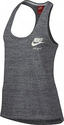 W Nsw Gym Vntg Tank Carbon Heather