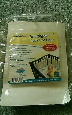 breathable Baby Mesh Cot Liner / bumper (used)
