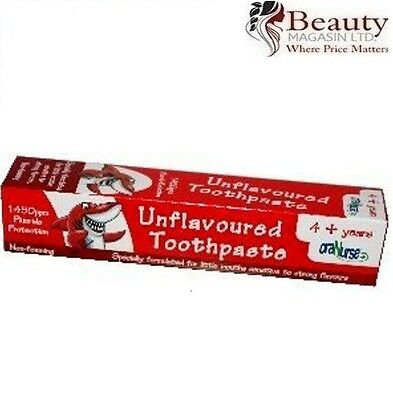 OraNurse Unflavoured Toothpaste 4+ Years - 50ml