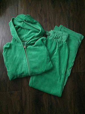 Ladies Velour Tracksuit In Jade Green Size 8