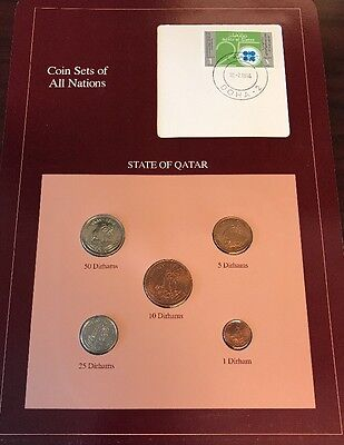 State Of Qatar Coin Sets Of All Nations MS/BU 50-1 Dirhams