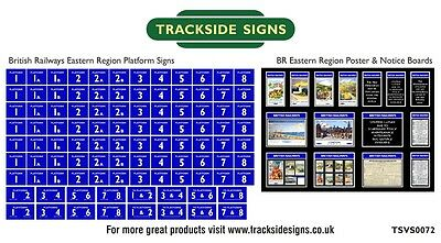 British Railways Eastern Region Model Railway Platform Numbers & Posters N Gauge