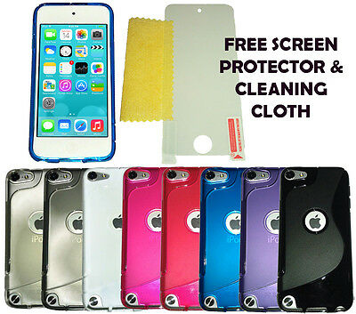 SLine Case Cover + Screen Protector For Apple iPod Touch 5 & 6 Generation