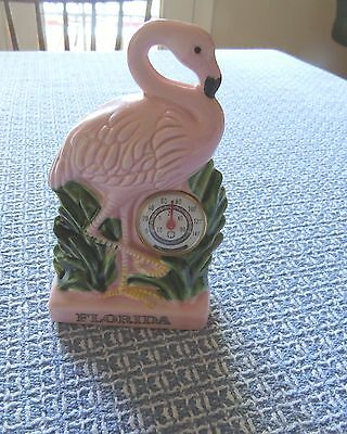 Vintage 1950's Flamingo Thermometer, Souvenir Of Florida