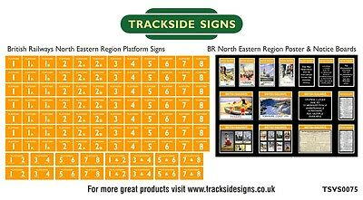 British Railways North Eastern Region Platform Numbers & Posters N Gauge