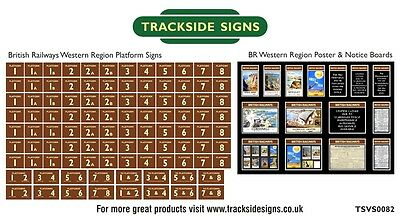 British Railways Western Region Model Railway Platform Numbers & Posters N Gauge
