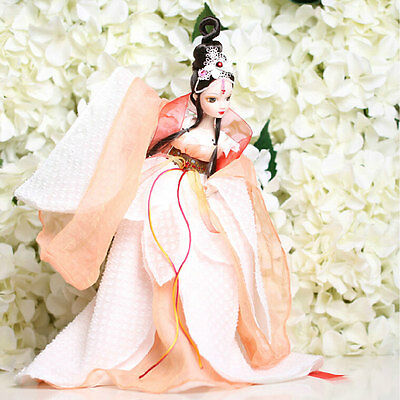 Pretty China Ancient Red-crowned Cranes Fairy Kurhn Chinese Barbie Doll Figure