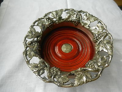 Superb  Antique English Wine Coasters  Silver Plate  SHEFFIELD