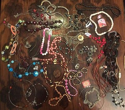 Jewelry Lot Vintage Rings Necklaces JL2245
