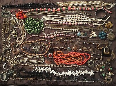 Jewelry Lot Vintage Rings Necklaces JL55