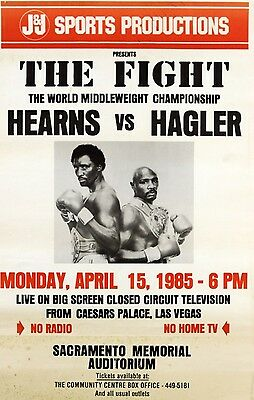 TOMMY HEARNS vs MARVIN HAGLER 8X10 PHOTO BOXING POSTER PICTURE THOMAS