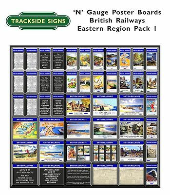British Railways Eastern Region Model Railway Advertising Posters N Gauge