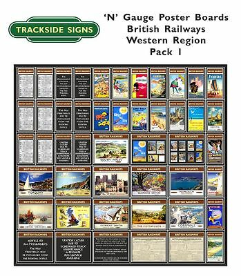 British Railways Western Region Model Railway Advertising Posters N Gauge