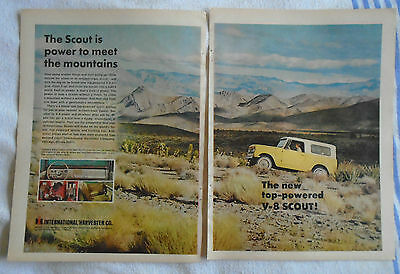 March 1967 International Scout 2 Page Magazine advertising ad print