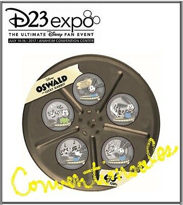 DISNEY D23 EXPO 2017 OSWALD LUCKY RABBIT 90 YEARS BOX SET OF 5 PINS w/ COMPLETER