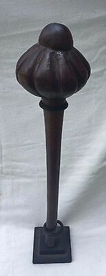 Carved Fluted Wood Fiji Throwing Club - Ula - OLD