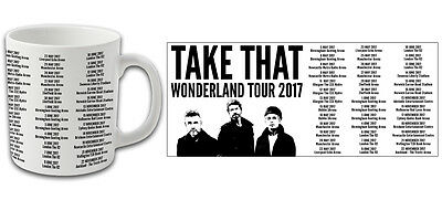Take That Wonderland 2017 Tour Printed Mug Top Quality Gary Barlow Mark Owen