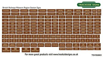 British Railways Western Region Model Railway Station Signs - N Gauge 2mm