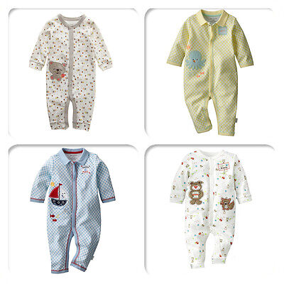100% Cotton First Moments Baby Boy Girl Romper One-Piece Multi Designs