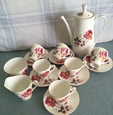 Bone China Made In England Coffee Set With Teapot