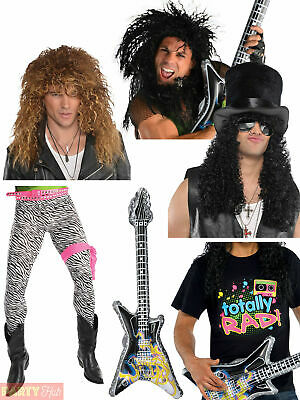 Mens 80s Costume Accessories Adults 80s Slash Rock Fancy Dress Awesome Accessory