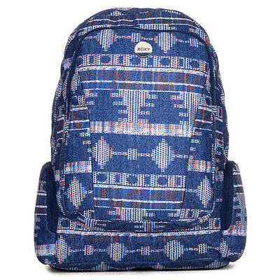 Roxy Alright Women's Backpack Castaway Floral Blue Print