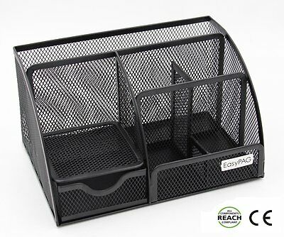 EasyPAG Mesh Office Desk Organizer 6 Compartment Desktop Accessories Caddy with