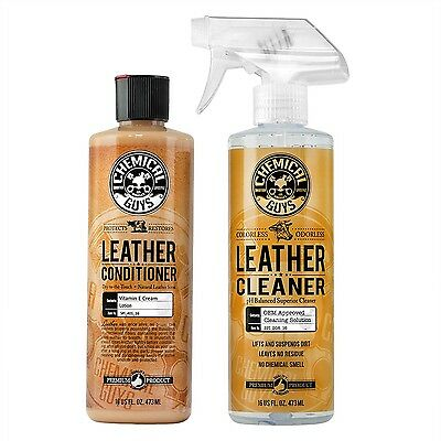 Chemical Guys Leather Cleaner and Conditioner Complete Leather Care Kit (16 o...