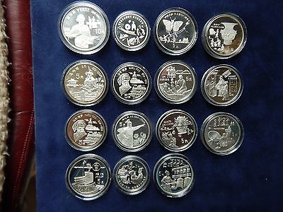 Genuine China Chinese Silver .900 .925 .999 3 5 10 Yuan Coin Coins COA Capsules