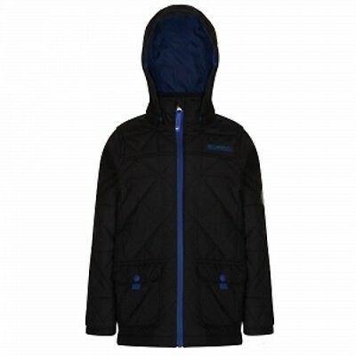 Regatta Bashfull Boys Water-Repellent Quilted Padded Insulated Jacket Black