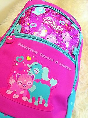 "New & Scented! Smiggle Girl's Backpack School Bag Pink, ""city"" - Best Pals"