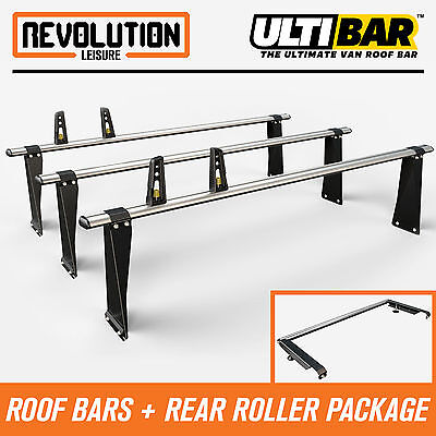 Ford Transit SWB Medium Roof + High Roof 00-14 Van Guard 3 x ULTI Bars + Roller