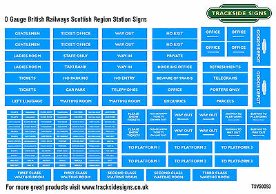 British Railways Scottish Region Model Railway Station Signs - O Gauge 7mm