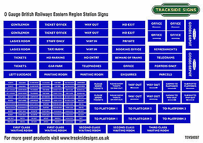 British Railways Eastern Region Model Railway Station Signs - O Gauge 7mm