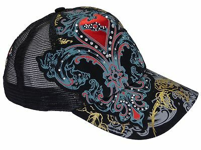 Ladies Cap Strass and Mesh