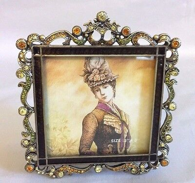 """""""TIZO"""" Italy Picture Frame with Swarovski Crystals and Enamel"""