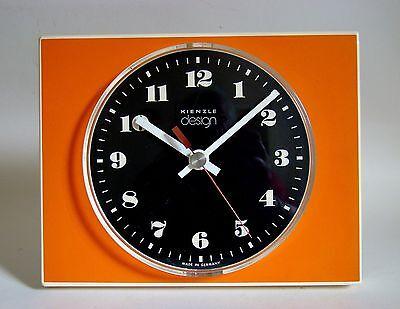 KIENZLE Design Wanduhr Orange Space Age 60/70er TOP & RARE