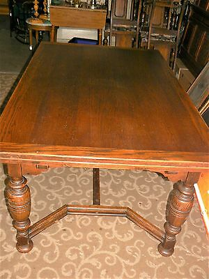 Vintage Refectory Extension Dining Table & 6 Chairs