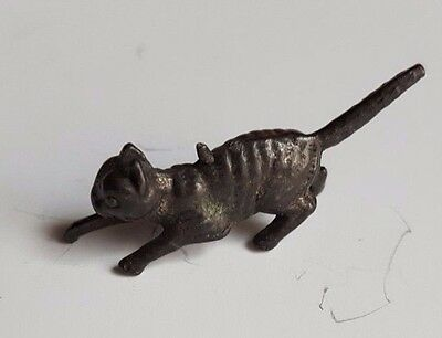 Dowst Vintage 1922 Cracker Jack Prize Toy Pit Prowling Cat Charm Stand Up