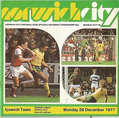 Norwich City v Ipswich Town, 26 December 1977, Division 1