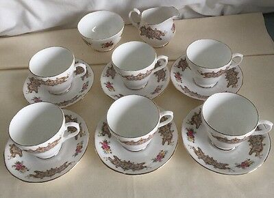 Royal Sutherland Fine Bone China Hm 6 Cups Saucers Milkjug Sugar Bowl Never Used