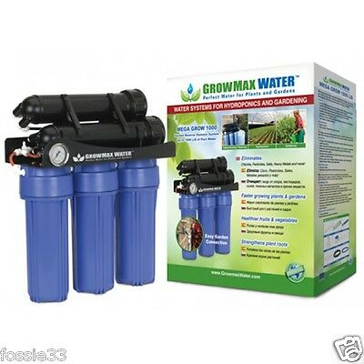 GrowMax Mega Grow 1000 RO Filter Reverse Osmosis / Water Purifier