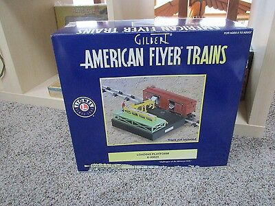 Lionel American Flyer 6-49824 Loading Platform and car New In Box  ()