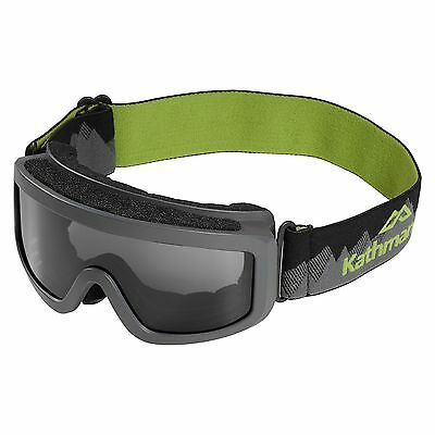 Kathmandu Kids Girls Boys Anti-Fog Ski Sports Snow Goggles Grey