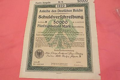 1922 German Bond Certificate