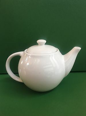 Little Plain Simple White China Teapot