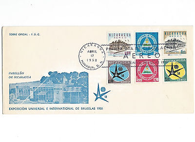 5 covers from Nicaragua to.... & Universal Exhibition Brussels 1958. .