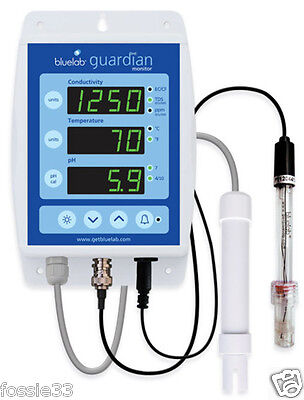 Bluelab Guardian Monitor - Wall-Mounted for Ph / Ec / Temp Meter All in One