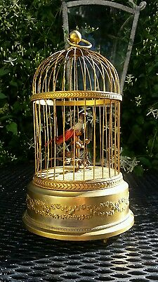 Antique French Bontems Singing Bird Cage Mechanical Automation