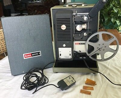 Kodak Analyst 8mm Projector A-75 RARE FIND  WITH CASE & REEL